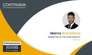 Marco Barcellona - Head of Digital Marketing, Continuum (Financial Services) LLP New Talent Awards, Marketer of the Year 2020 - Finalist